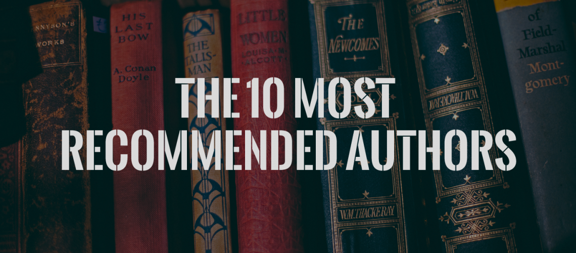 10 most recommended authors