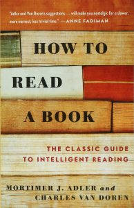 how to read a book by mortimer adler